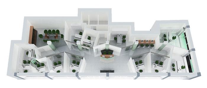 Progetto di interni sede di planning pool a mestre for Interni progetti